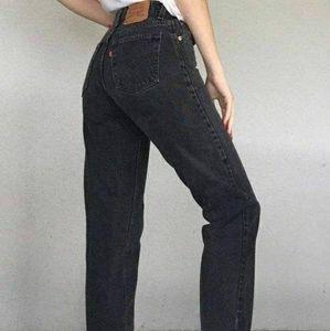 RARE Vintage Levi's 550 | black tapered jeans
